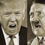Trump and Hitler art