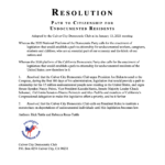 RESOLUTION ON CITIZENSHIP