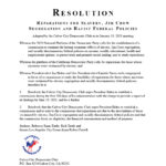 Resolution Reparations Slavery Segregation Discrimination
